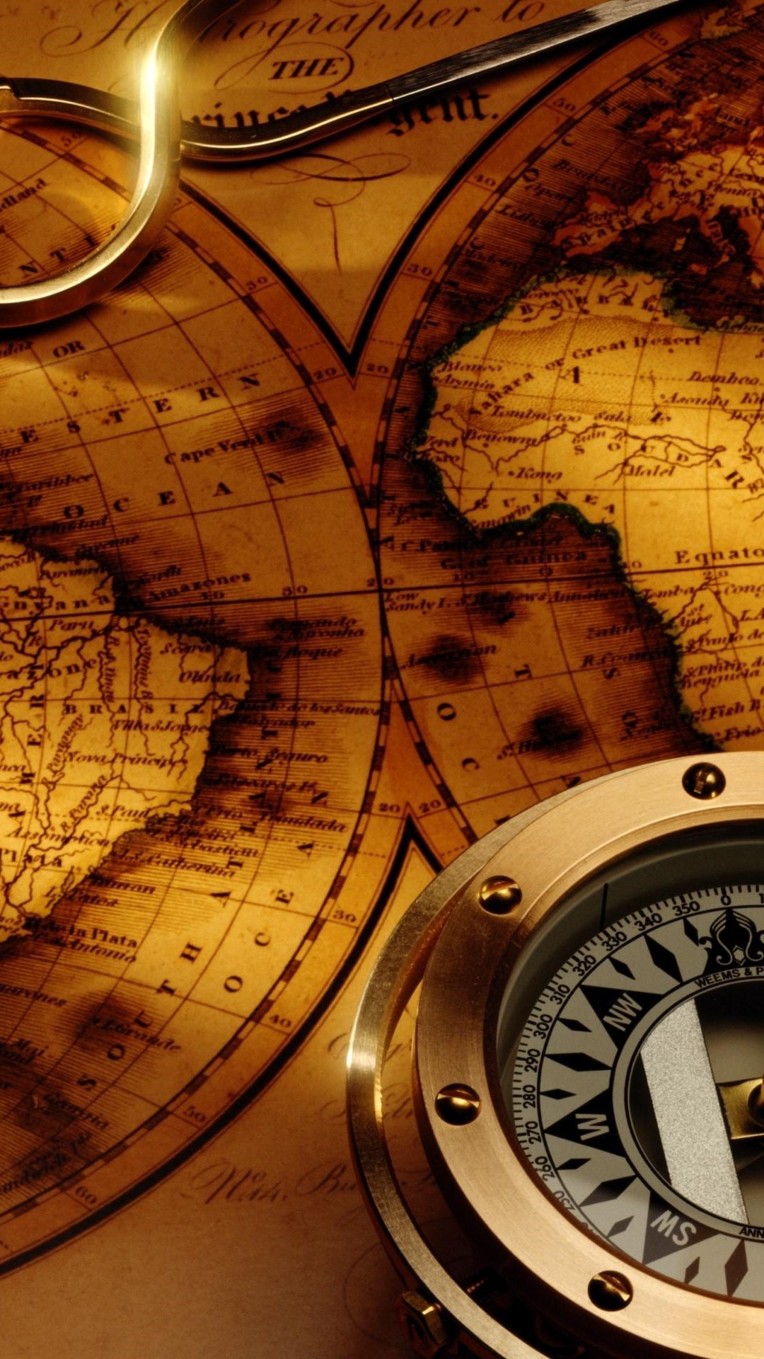 Карта и компас  № 2941998 бесплатно